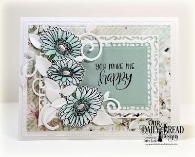Our Daily Bread Designs Stamp/Die Duos: Call to Me, Paper Collection: Romantic Roses,Custom Dies:  Foliage and Leaves, Lavish Layers, Pierced Rectangles, Double Stitched Rectangles