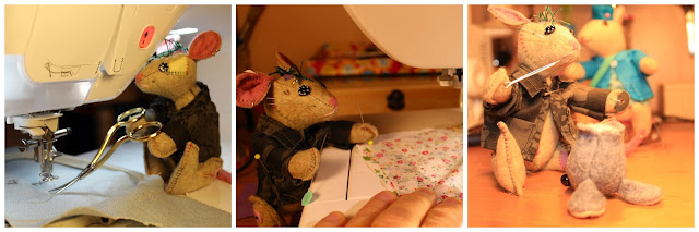 souris, mouse, jouet en feutrine, felty toy, embroidery, sewing