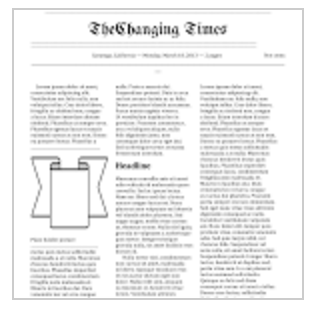 Newspaper Format Template Google Docs