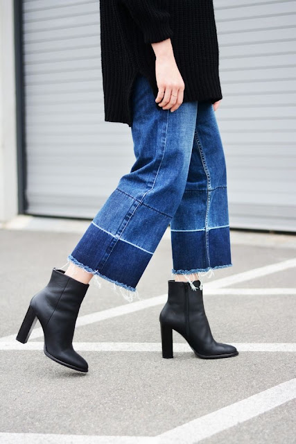 WHISPER blog: CROPPED FLARE JEANS #cropped #flare #denim #jeans #estilo #style