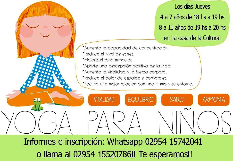 Municipalidad de caleuf casa de la cultura comienzan las clases de yoga para ni os - Clases de yoga en casa ...