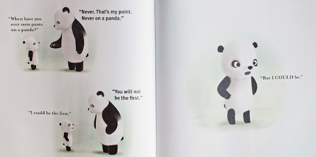 illustrations from Panda pants by Jacqueline Davies picture book