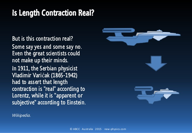 IS LENGTH CONTRACTION REAL