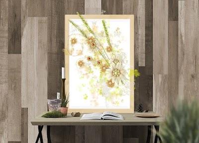 Cuadros flores secas en 3D manualidades para primavera