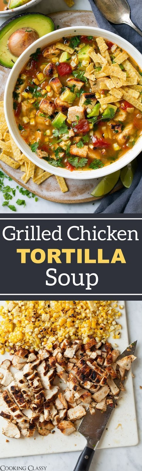 Grilled Chicken Tortilla Soup Recipe