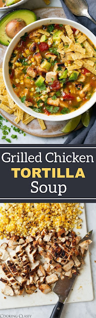 Grilled Chicken Tortilla Soup