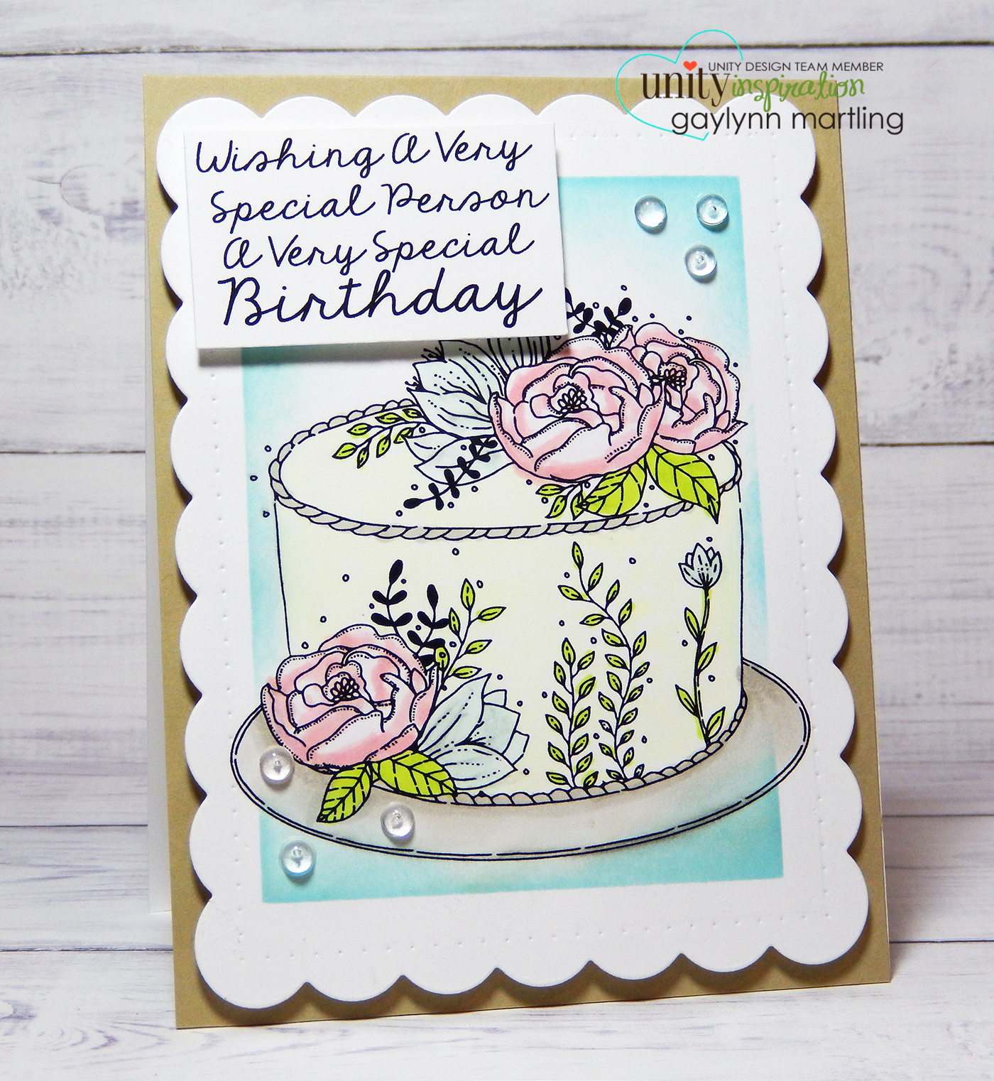 Neat Nook Creations Birthday Cake And Flowers Pastel Handmade Card