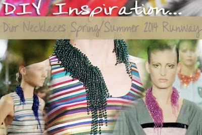 Gargantilla Perlas en Cascada basada en Dior. Diy