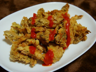 resep cemilan anak kos jamur tiram krispi