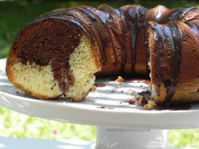 Double Chocolate Swirl Bundt Cake