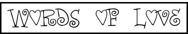Palabras amor tipografias gratis