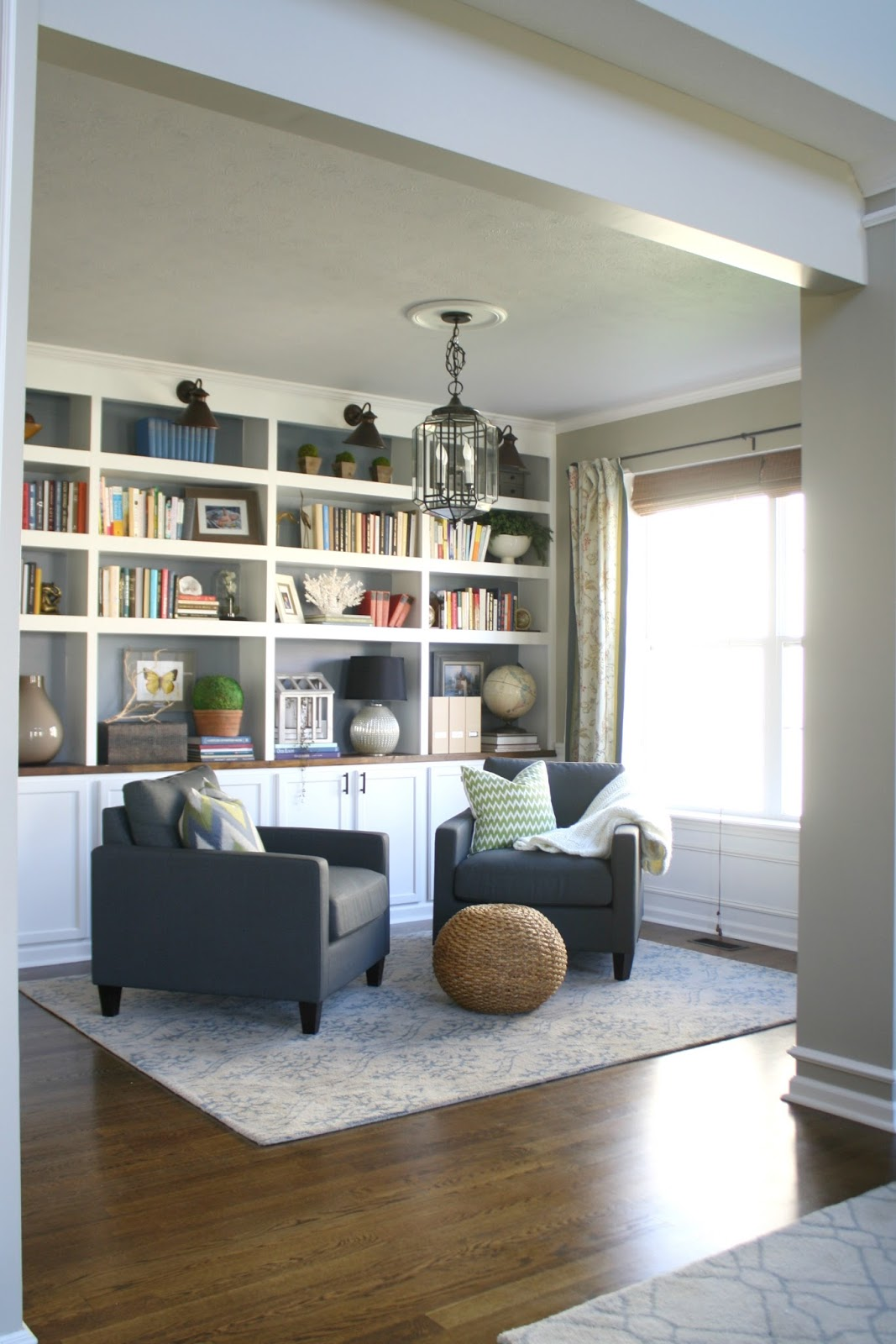 sitting room and dining room designs | The Library Is Complete! (for Real This Time) from Thrifty ...