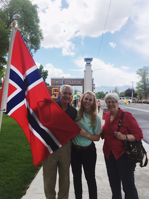 with norwegian flag