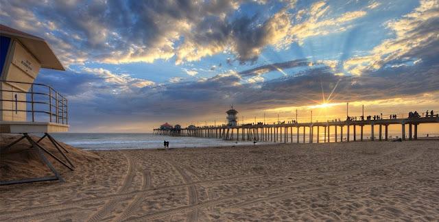 Praia Huntington Beach em Anaheim