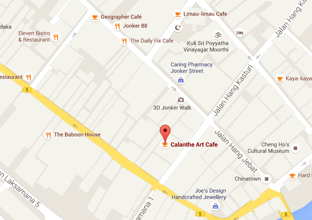 Calanthe Art Cafe Map