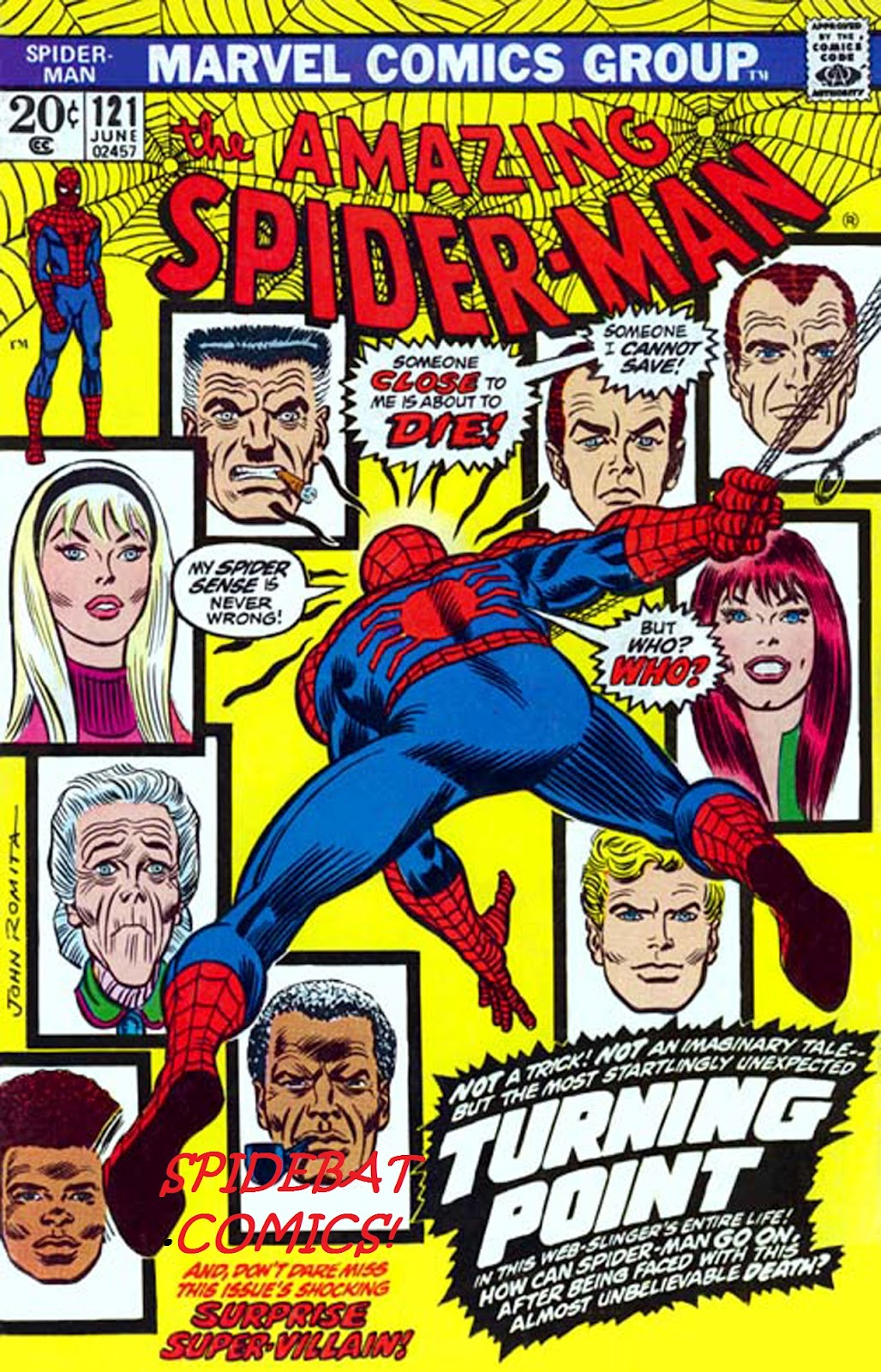 Rafatos The Amazing Spider Man 121 La Muerte De Gwen Stacy
