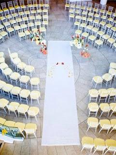 circular seating wedding layout