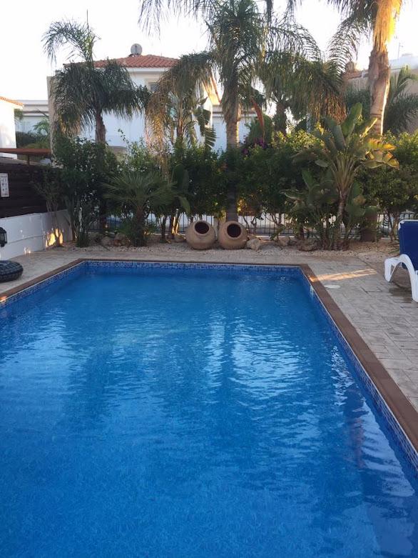 pool at villa in Cyprus