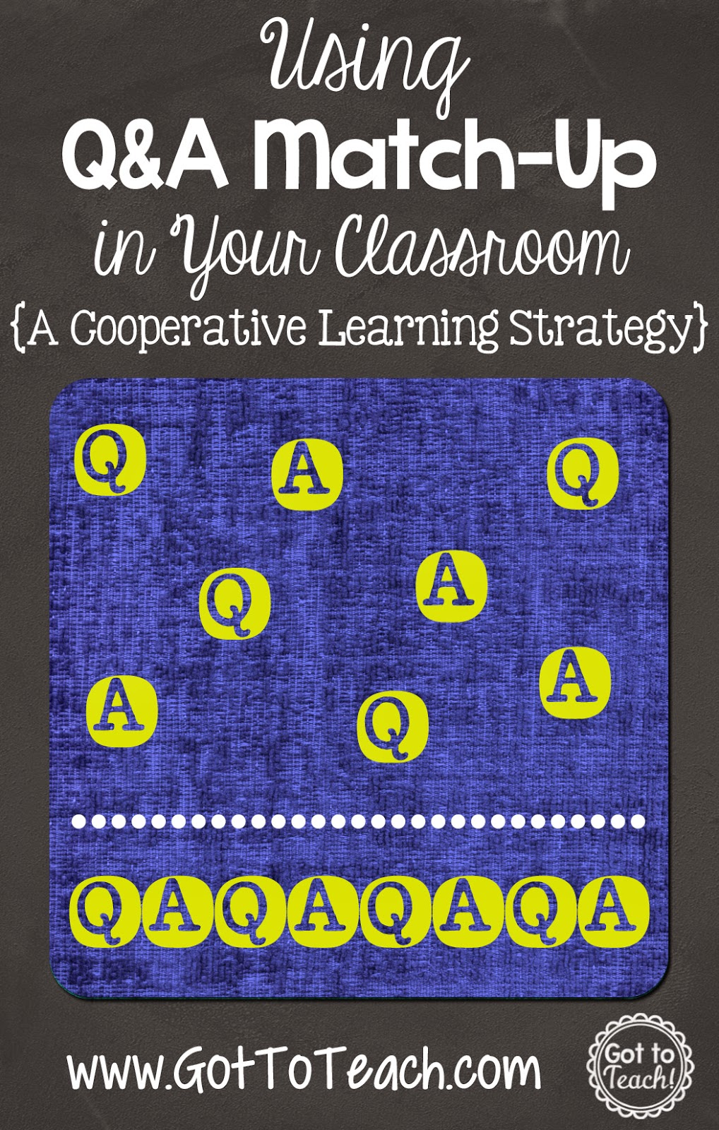 Collaborative Review Teaching ~ Got to teach q and a match up cooperative learning
