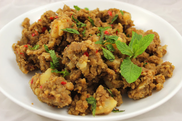 Spicy Indian Smashed Potatoes with Fresh Mint