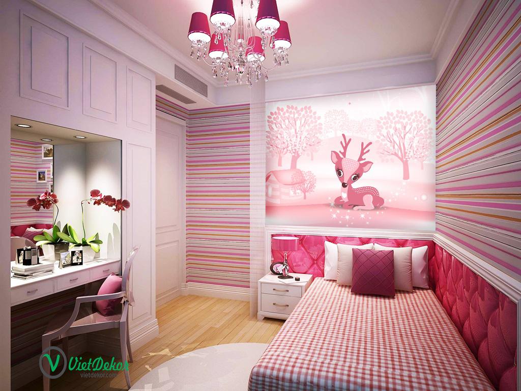 Tranh dán tường 3d phòng ngủ đẹp