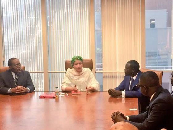 4 Photos: Akon visits Nigeria's Minister of Environment, Amina Mohammed in NY