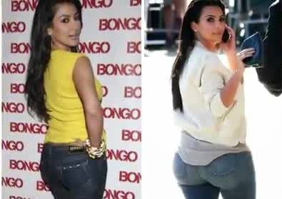 10 Famous People Caught With Fake Behinds, Kim Kardashian