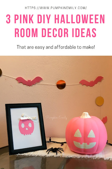 3 Pink DIY Halloween Room Decor Ideas