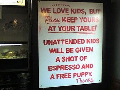 Funny we love kids sign joke picture
