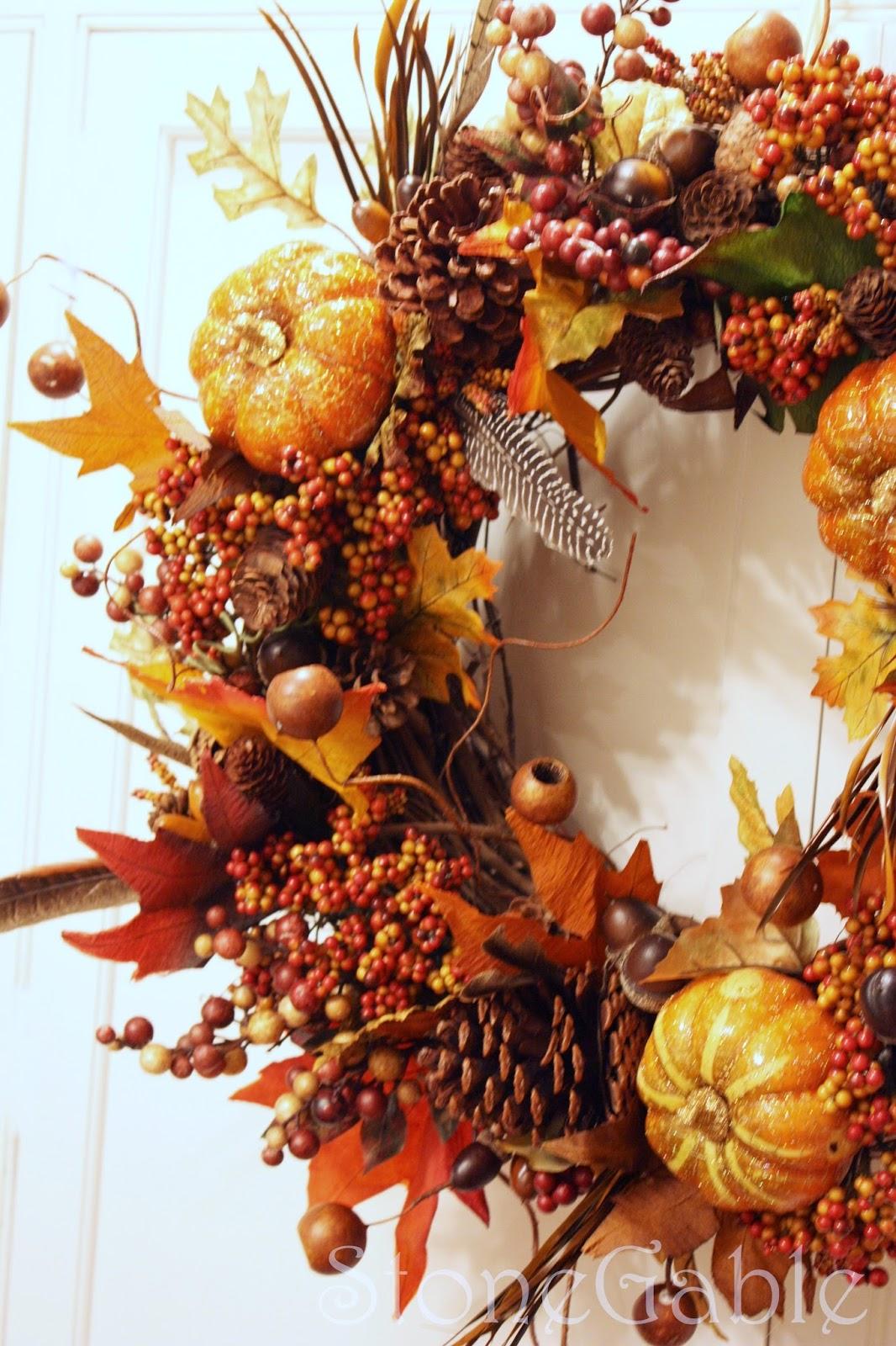 Fall Pumpkin Wreath Tutorial Stonegable