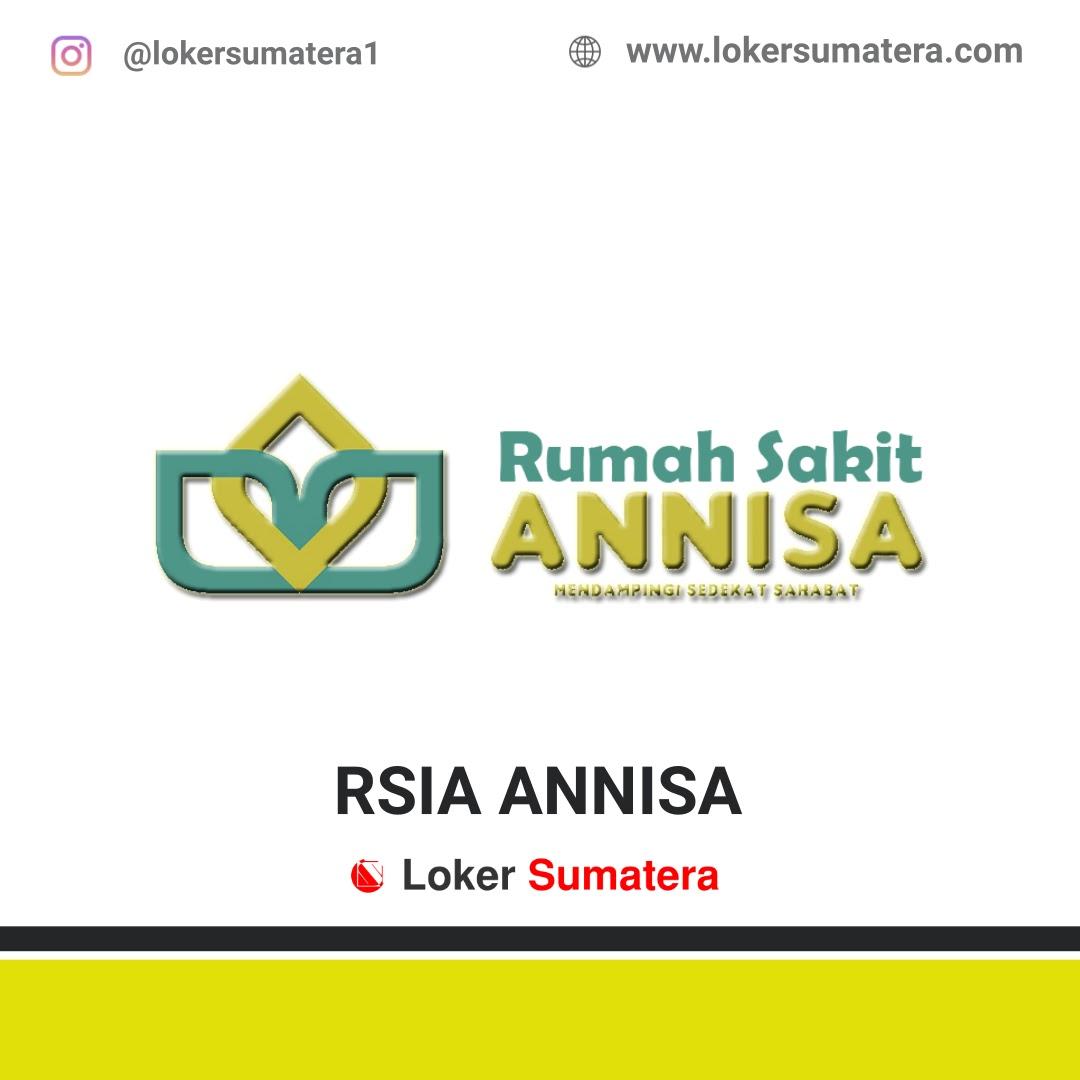 Lowongan Kerja Pekanbaru: RSIA Annisa Agustus 2020
