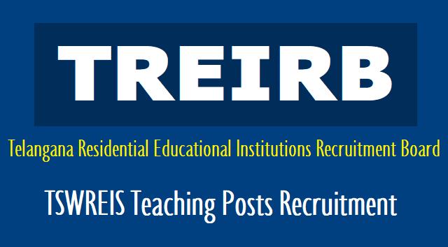 TREIRB Notification 2018 for TTWREIS 863 Tribal Welfare Gurukulam posts (Jobs)
