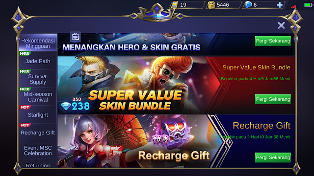 Harga Skin Special Mobile Legends Cuma 238 Diamond Kok Bisa 1
