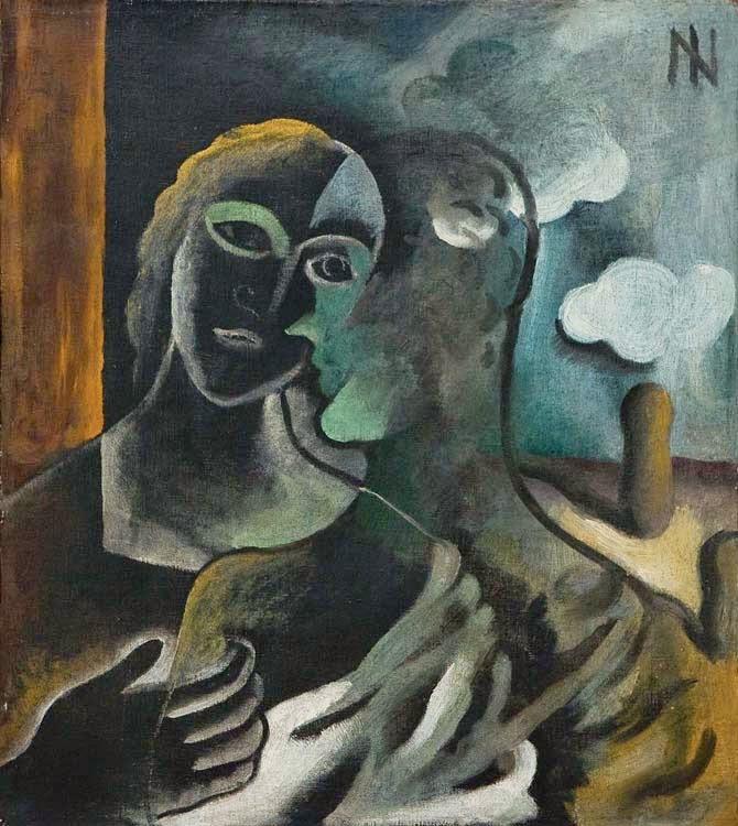 """Casal em Verde - Ismael Nery e suas pinturas ~ O """"Pintor Maldito"""""""