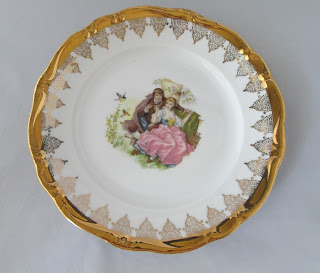 Bavarian Porcelain Gilded Gloria Collectible Plate