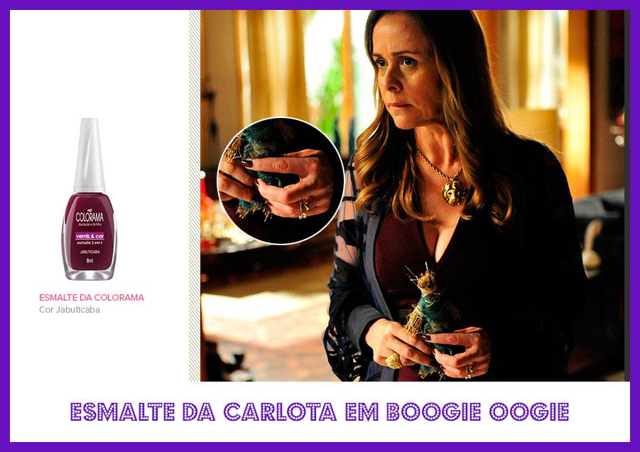 Descubra o esmalte da Giulia Gam - a Carlota em Boogie Oogie