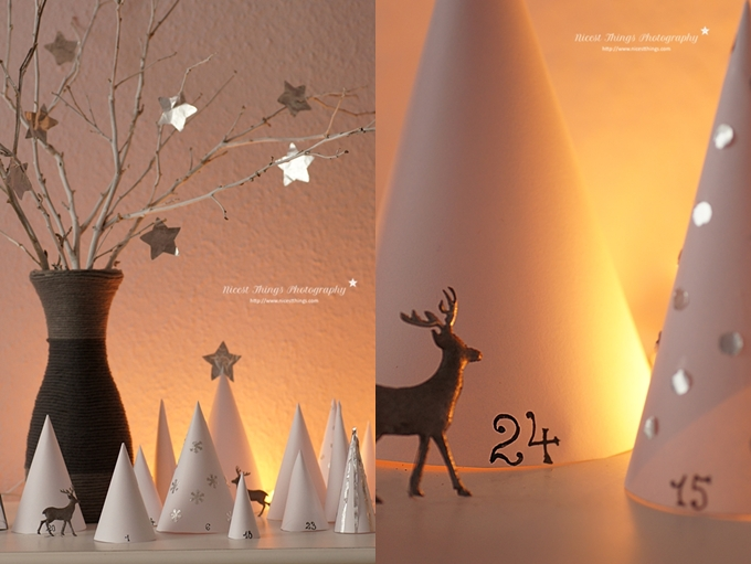 Winterwald Adventskalender DIY Wald Adventskalender Papier