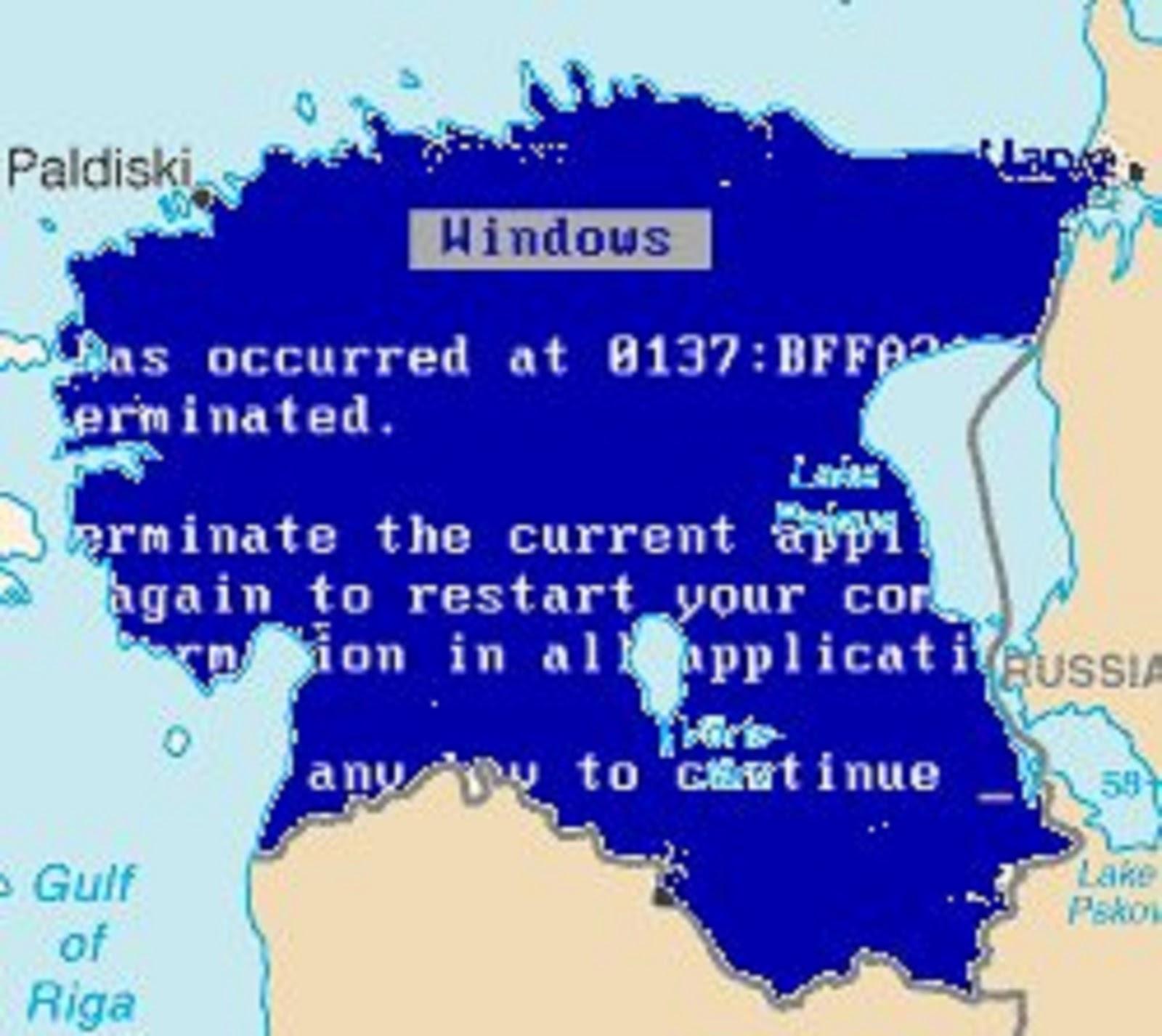 um dos primeiros registros de guerra cibernetica apontam a estonia da indignacao a falta de energia como a primeira vitima