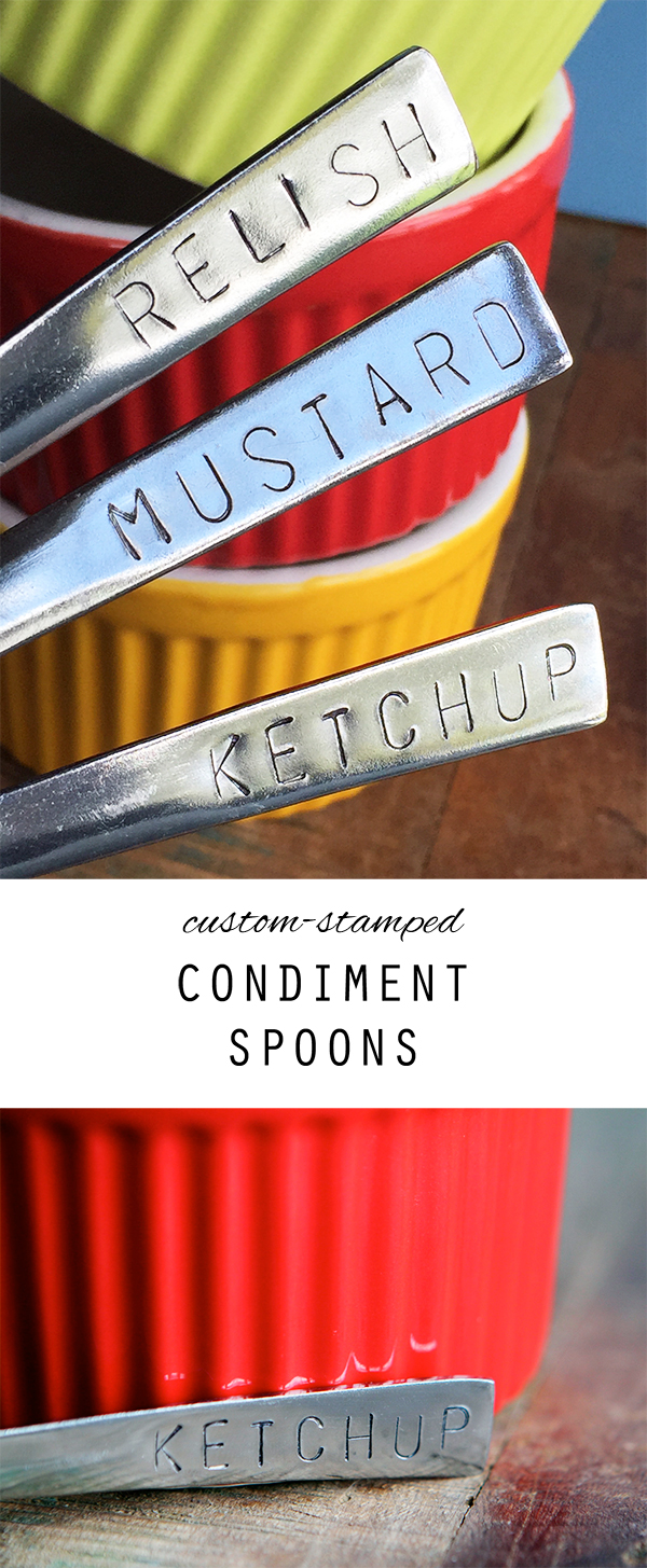 Make some custom condiment spoons for your next BBQ.