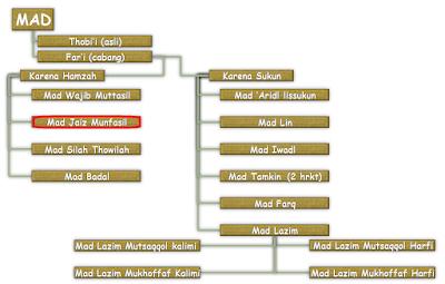 Contoh dan Hukum Bacaan Mad Jaiz Munfasil Dalam Al-Qur'an