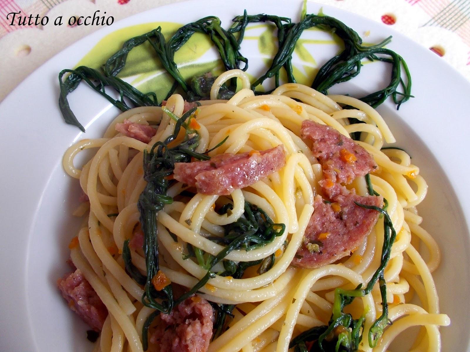 spaghetti ciauscolo