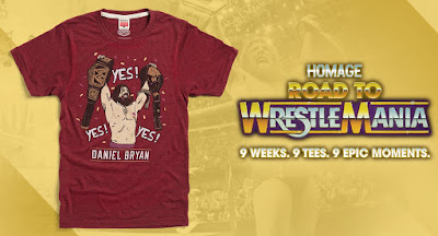"Road to WrestleMania Week 7 ""Daniel Bryan Yes! Yes! Yes!"" T-Shirt by Homage x WWE"