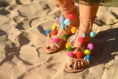 Mabu Maria BK pom pom sandals