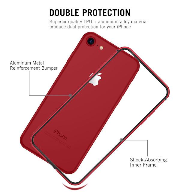 RANVOO [ARMOR] iPhone 8 Case, Aluminium Bumper Case.