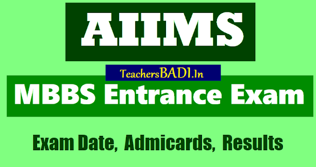 aiims mbbs entrance exam 2018 for bachelor of medicine bachelor of surgery(mbbs) course admissions,last date for apply online application form,aiims exam date, aiims admit cards, aiims results
