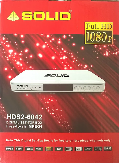 SOLID HDS2-6042 Free-to-Air MPEG-4/ DVB-S2/ PVR Set-Top Box