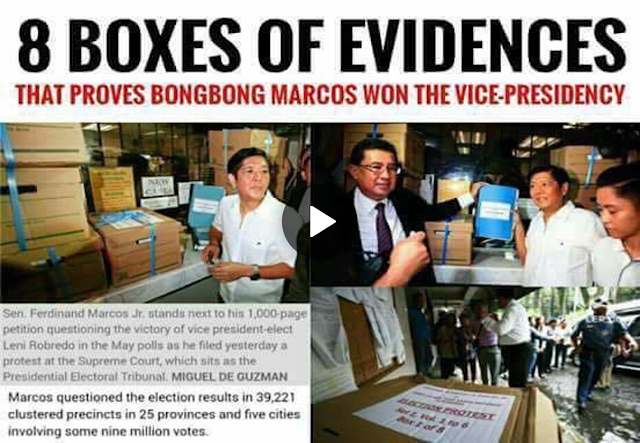 Breaking News! 8 Boxes Of Evidences That Proves Bongbong Marcos Won The Vice-presidency
