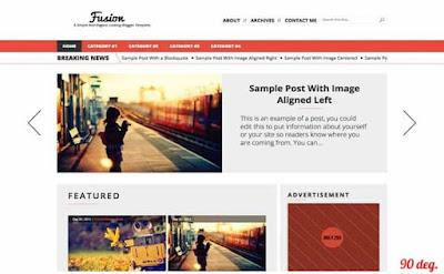 Fusion Blogger Template