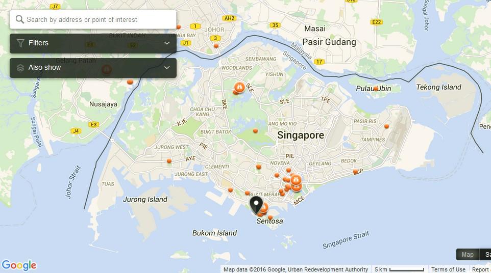 Google Maps Sentosa casino map