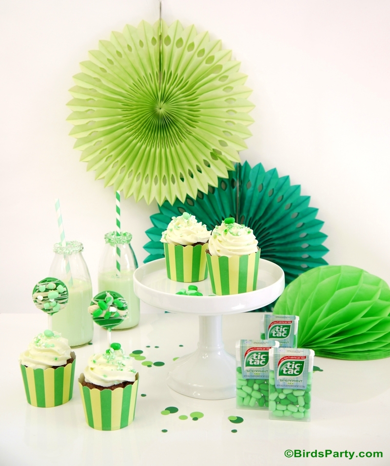 Mint Green Party Ideas & Flavored Recipes with Tic Tac® - BirdsParty.com